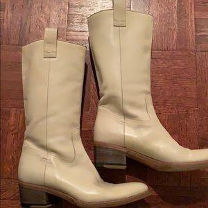 Gucci rare cream leather boots